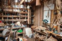 A cluttered workshop